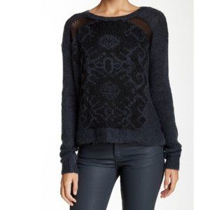 The Kooples Mohair Embroidered Effect Sweater